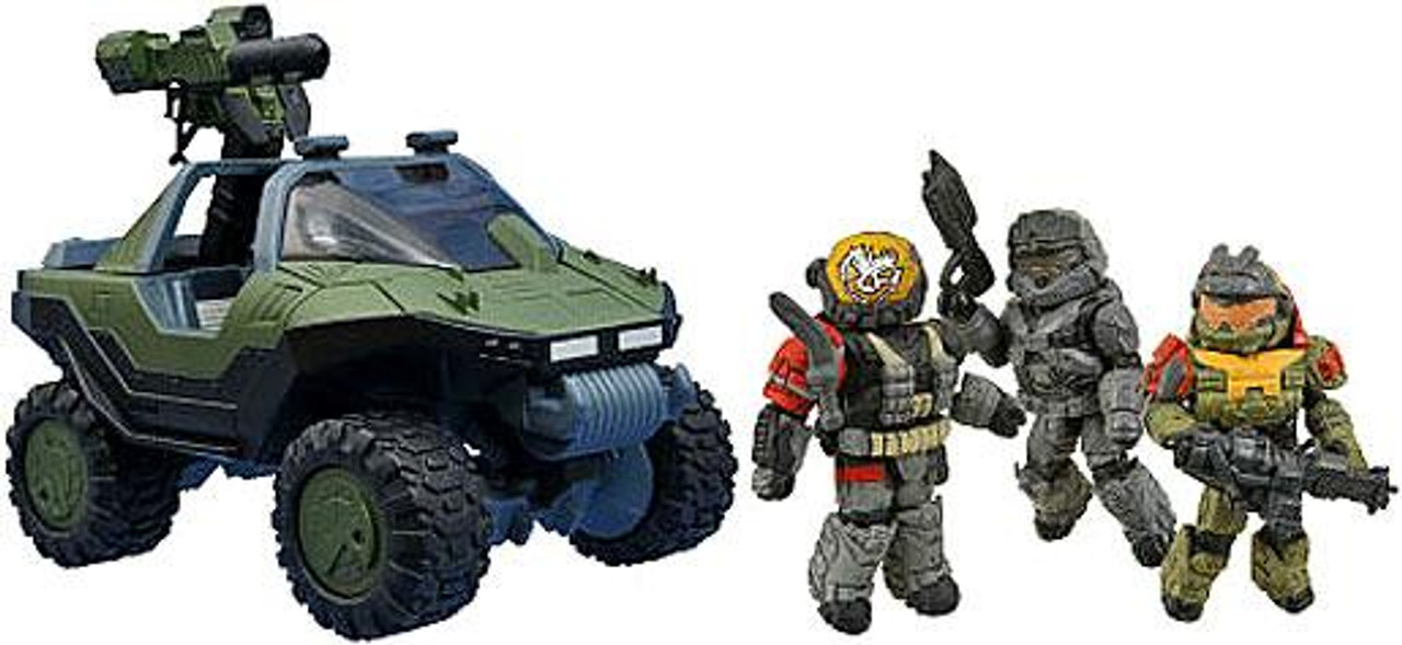 """Halo Minimates Exclusive Minifigure 4-Pack [M12 LAAV """"Warthog"""" with M68 ALIM Gauss Cannon & Noble Team]"""