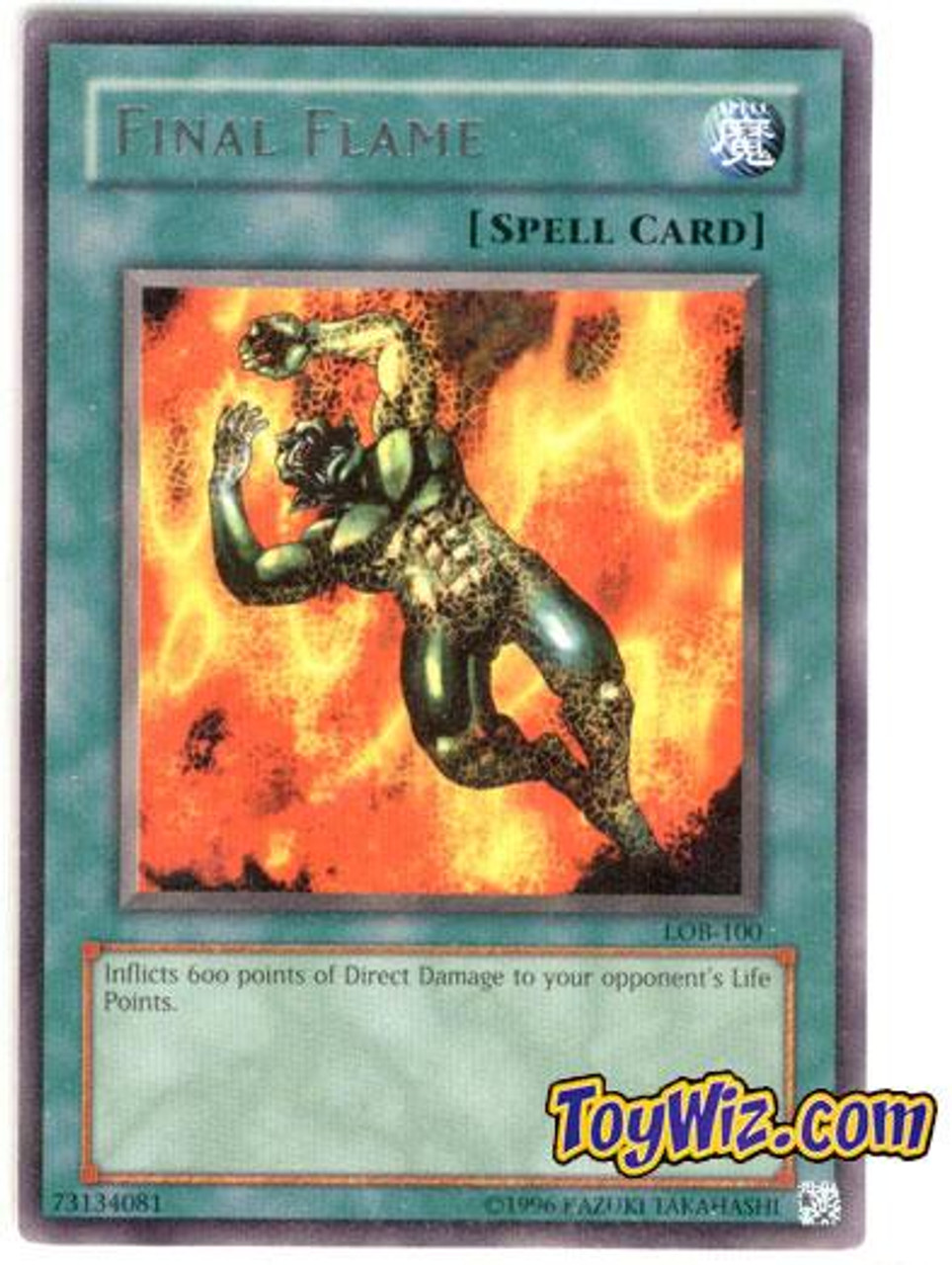 YuGiOh Legend of Blue Eyes White Dragon Rare Final Flame LOB-100