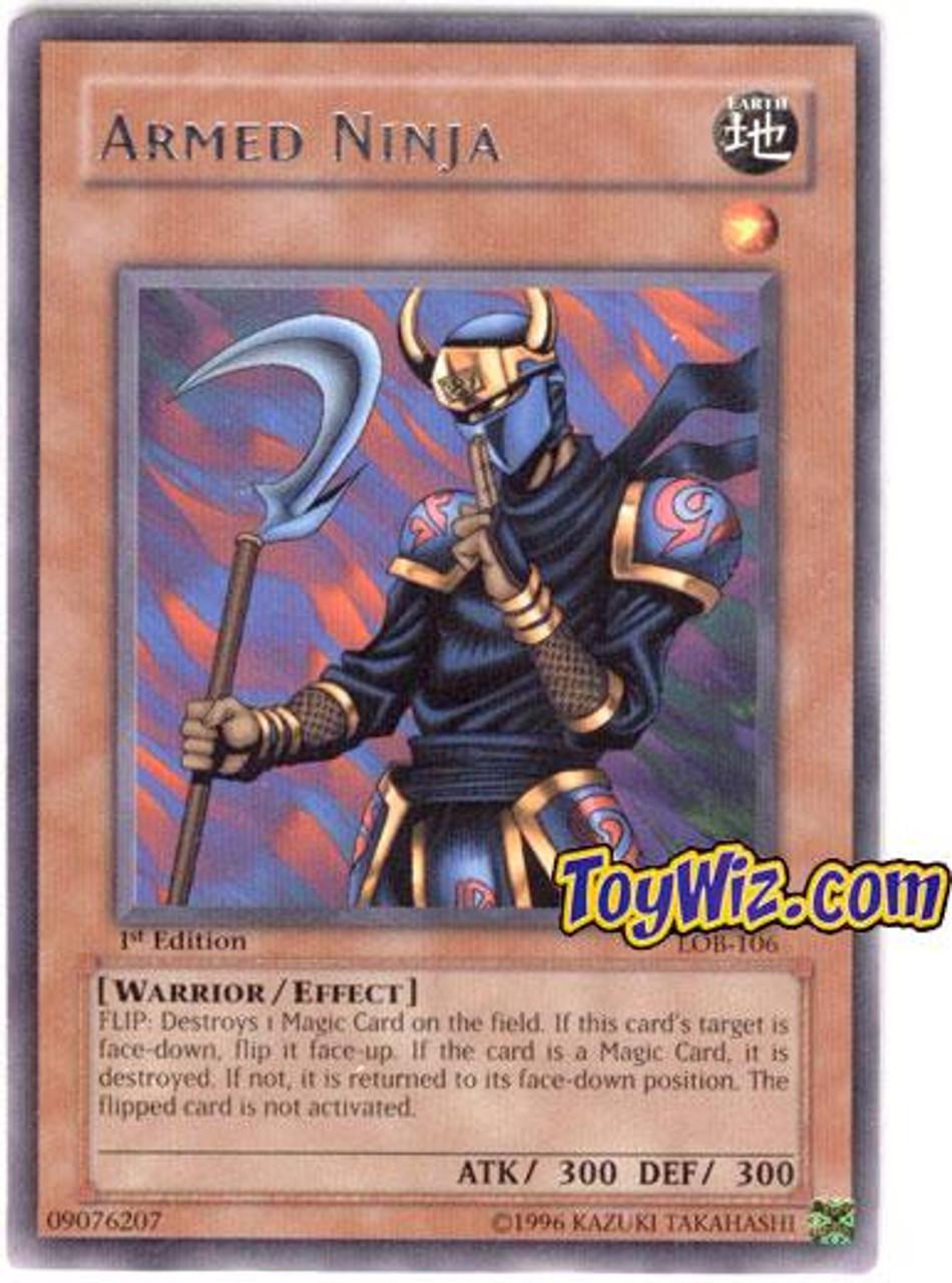 YuGiOh Legend of Blue Eyes White Dragon Rare Armed Ninja LOB-106