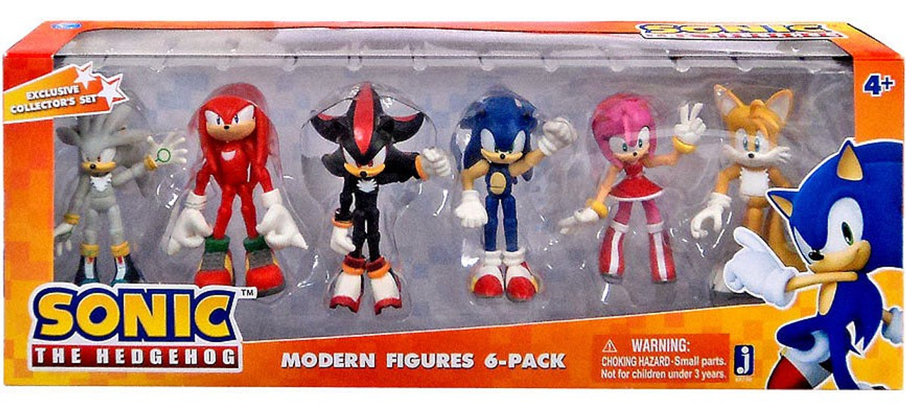 Sonic The Hedgehog Modern Sonic Action Figure 6-Pack
