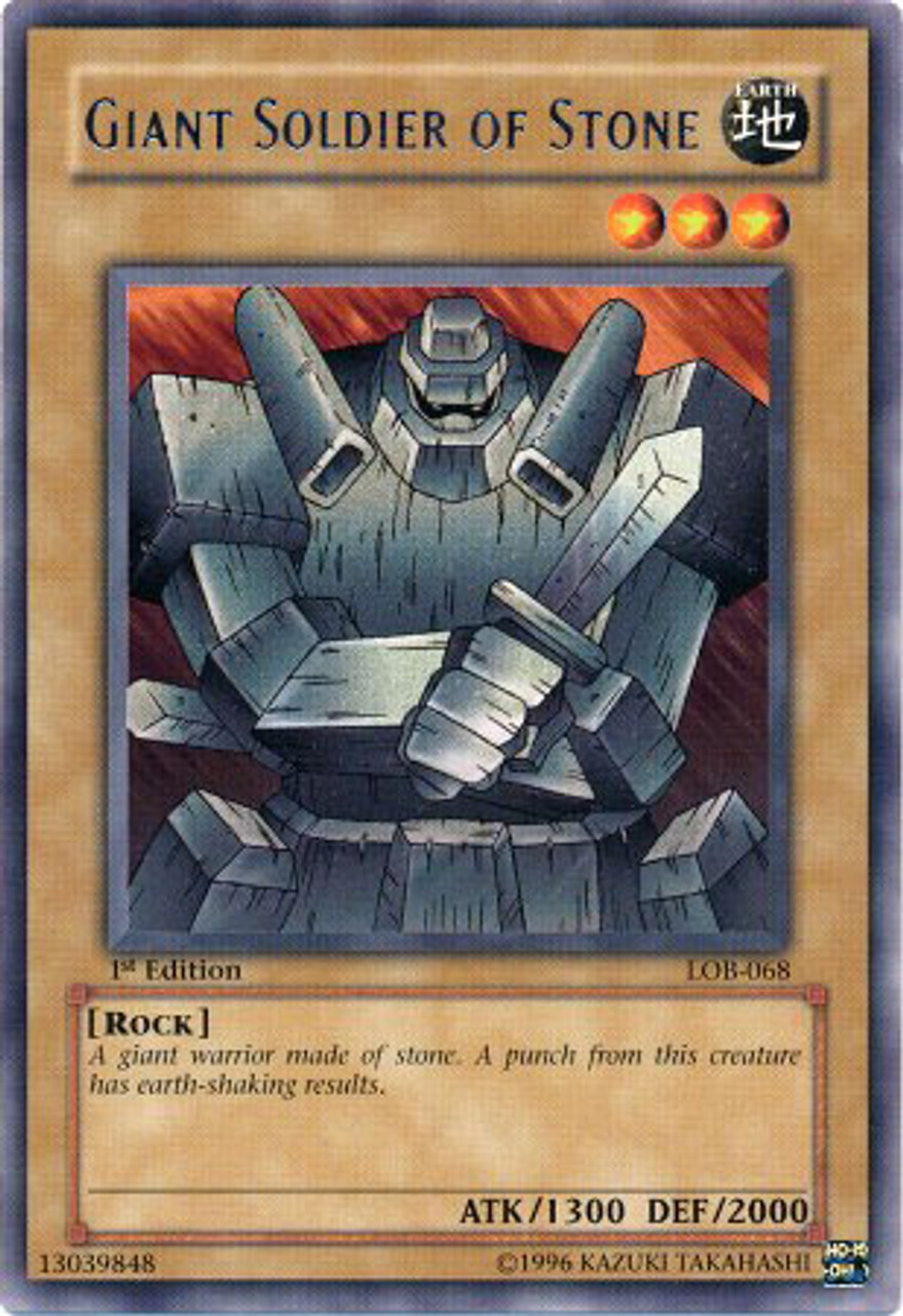 YuGiOh Legend of Blue Eyes White Dragon Rare Giant Soldier of Stone LOB-068