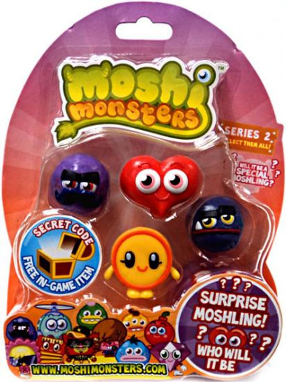Moshi Monsters Moshlings Series 2 Mini Figure 5-Pack
