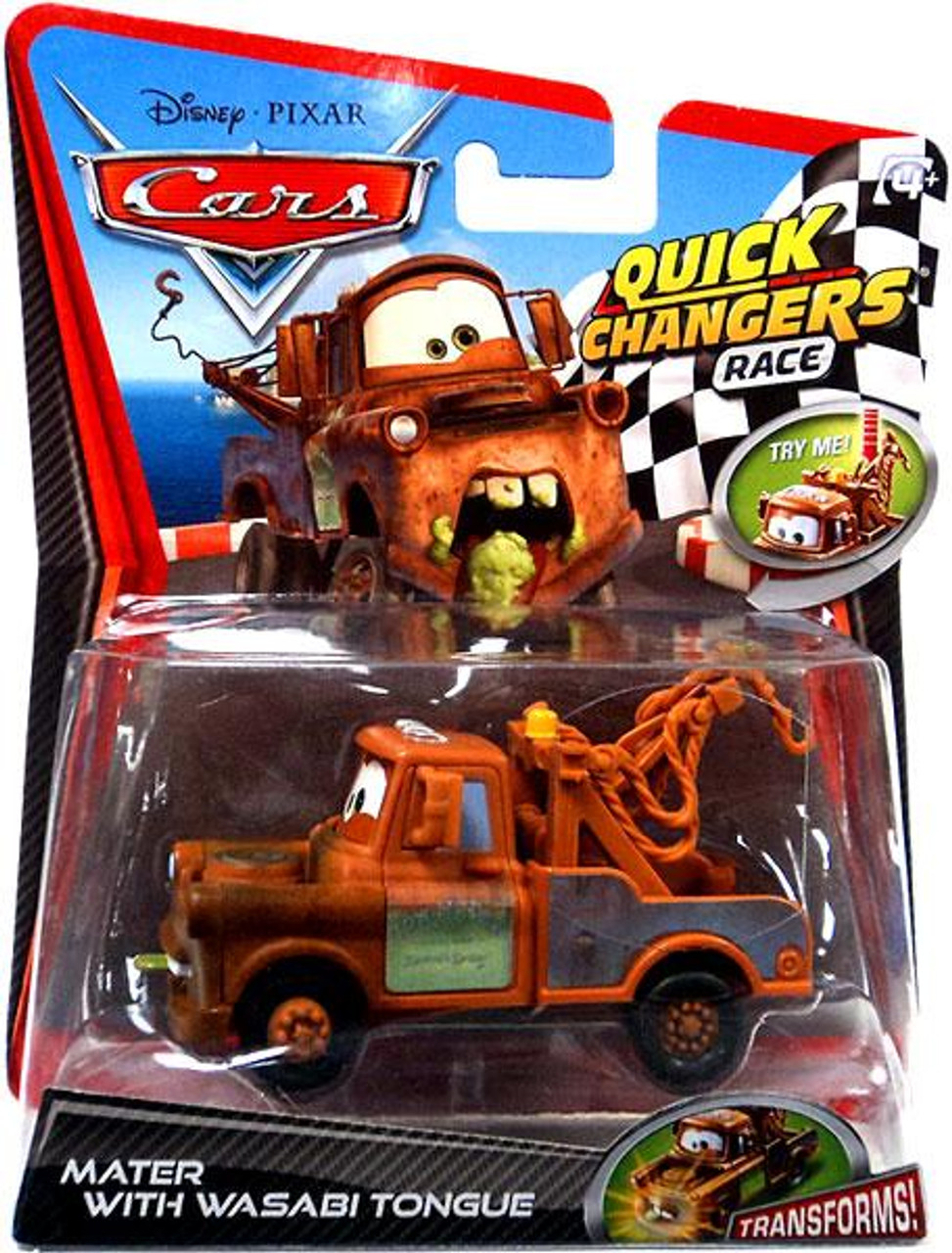 Disney Cars Cars 2 Quick Changers Race Mater with Wasabi Tongue Diecast Car