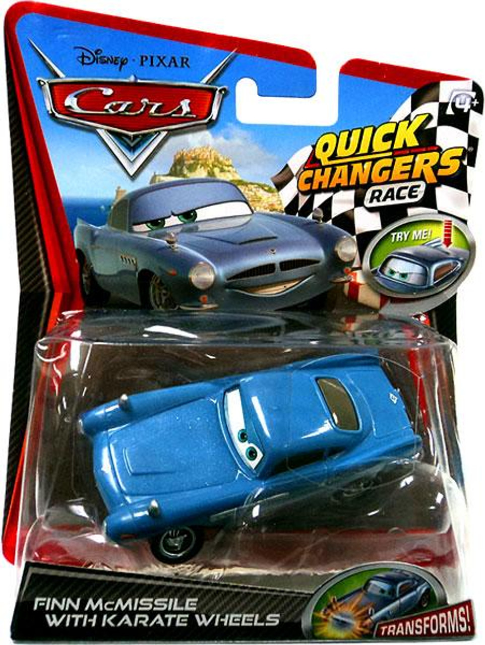 Disney Cars Cars 2 Quick Changers Race Finn Mcmissile With Karate Whee...