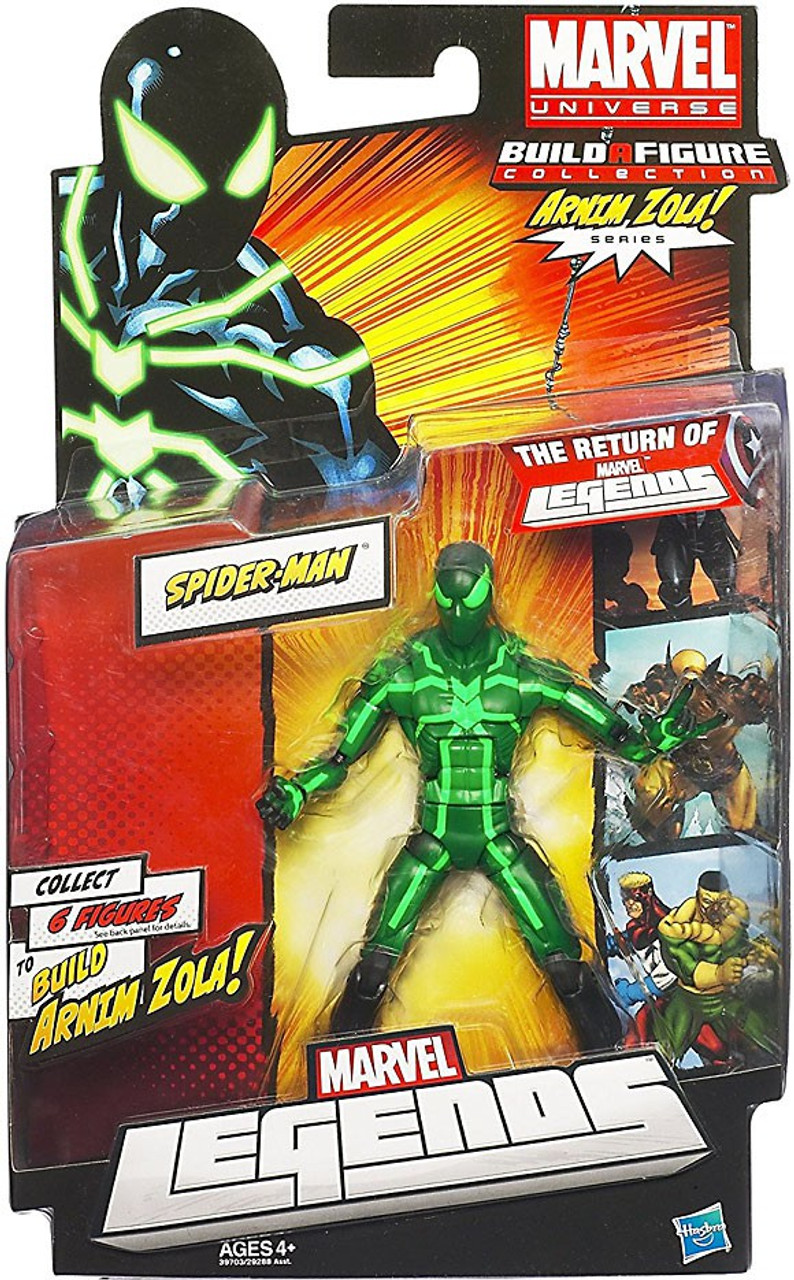 Marvel Legends Arnim Zola Series Spider-Man Action Figure [Black & Green Suit]
