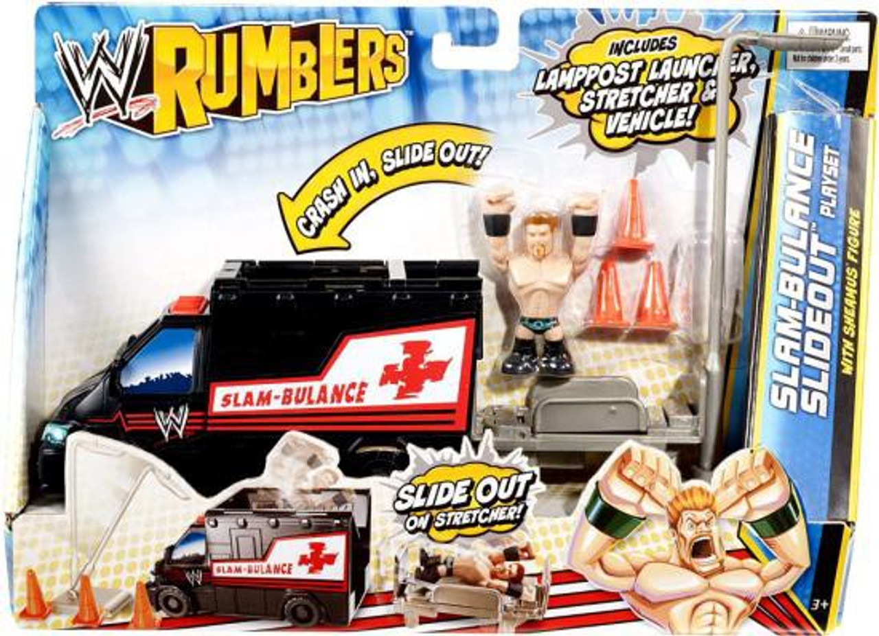 WWE Wrestling Rumblers Series 2 Slam-Bulance Slideout Mini Figure Playset [With Sheamus]