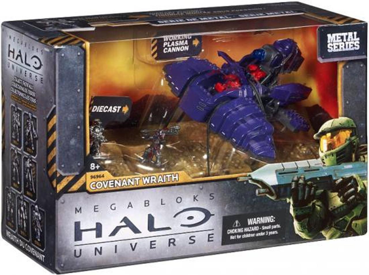 Mega Bloks Halo Metal Series Covenant Wraith Set #96964