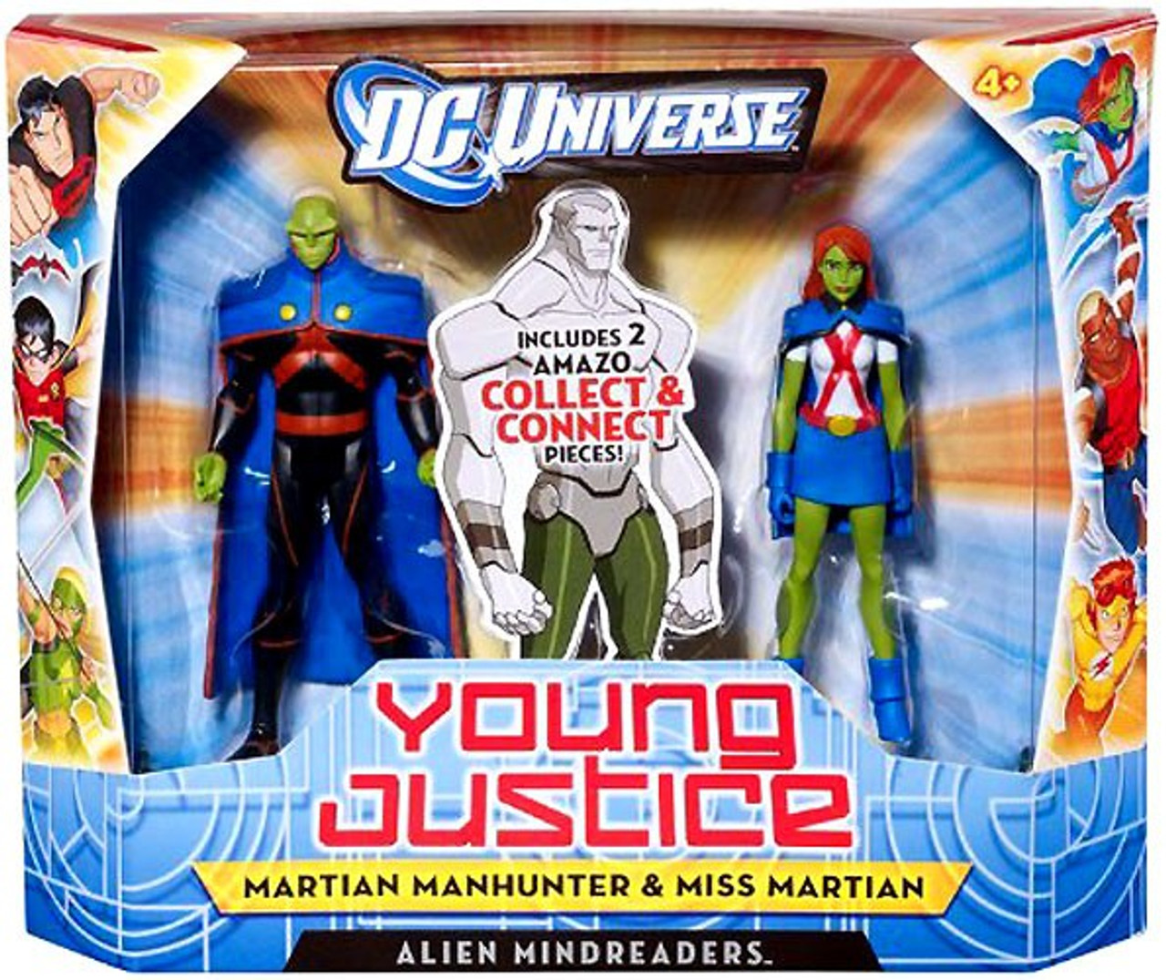 DC Universe Young Justice Martian Manhunter & Miss Martian Action Figure 2-Pack [Aliens Mindreaders]
