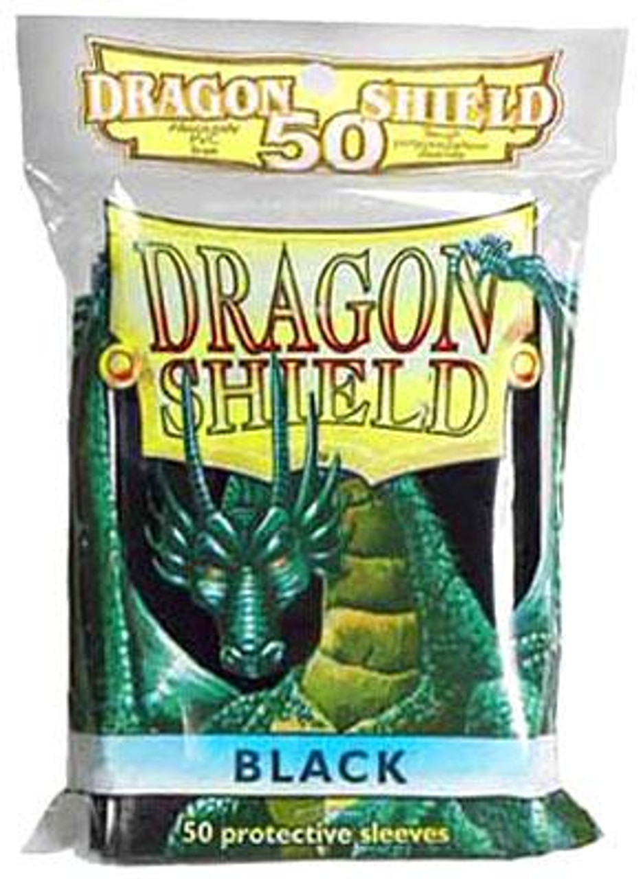 Card Supplies Dragon Shield Black Standard Card Sleeves [50 Count]