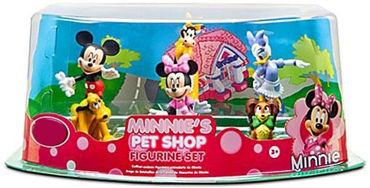 Disney Mickey Mouse Minnie's Pet Shop Figurine Set Exclusive 3-Inch