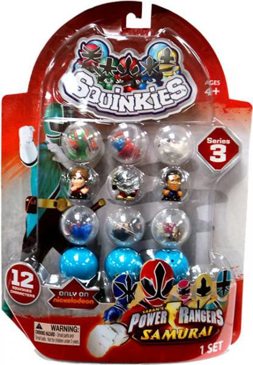 Samurai Power Rangers Squinkies Series 3 Mini Figures