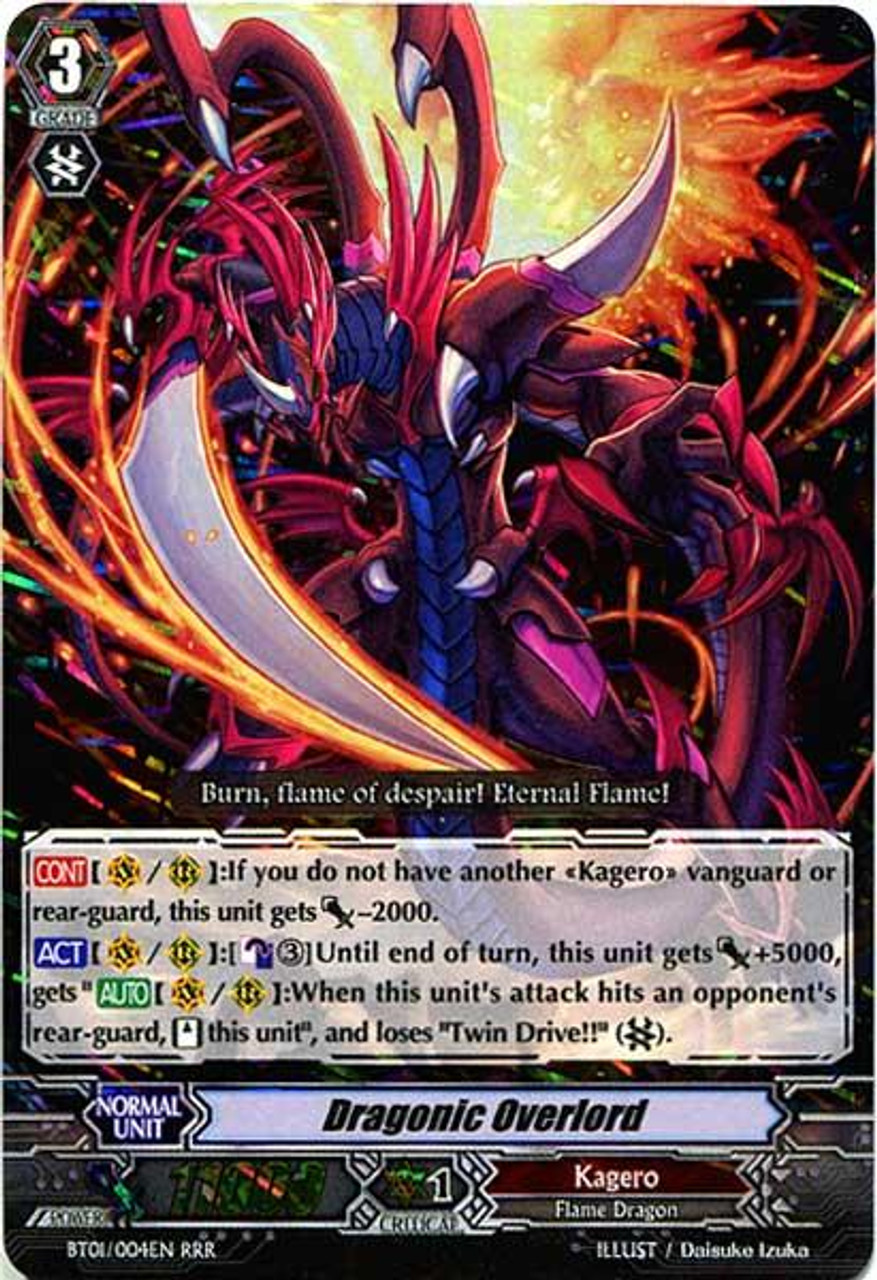 Cardfight Vanguard Descent of the King of Knights RRR Dragonic Overlord BT01-004