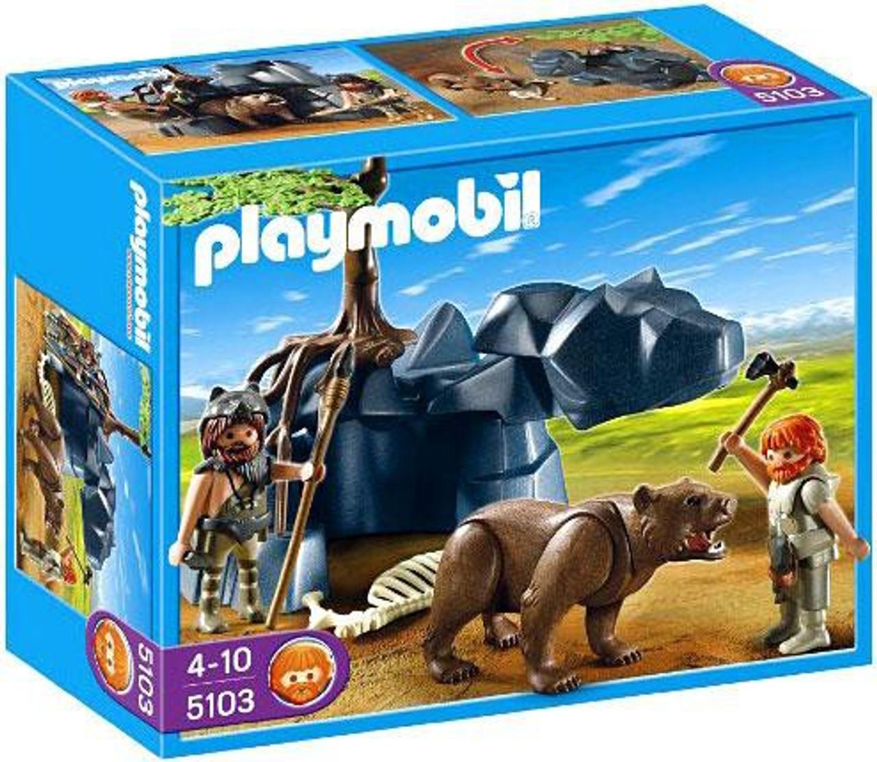 Playmobil Stone Age Bear with Cavemen Set #5103