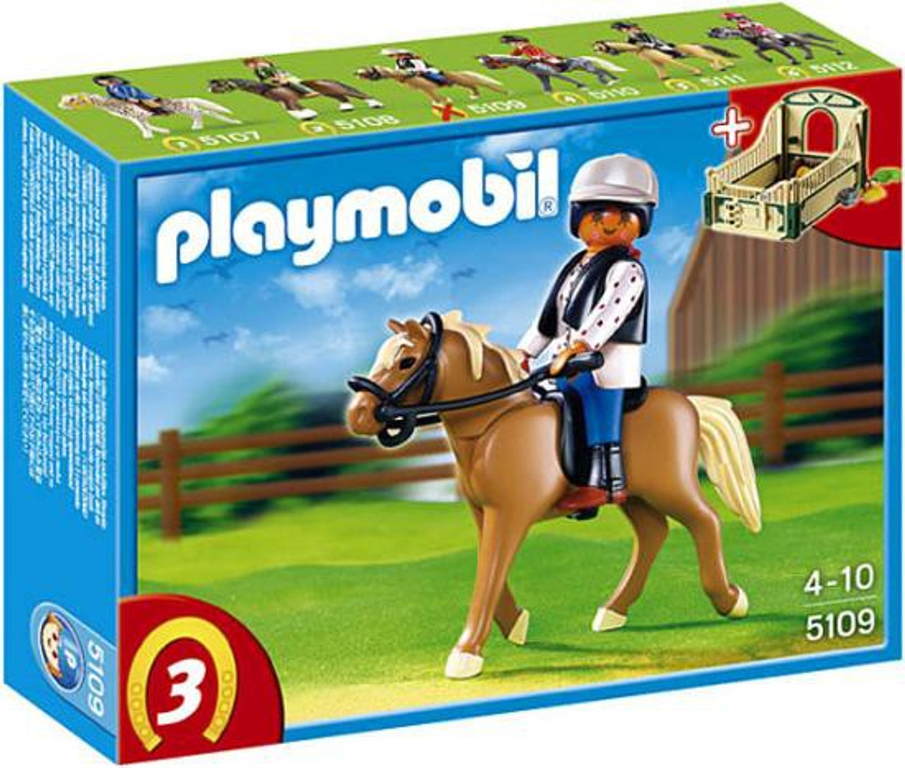 Playmobil Horses Haflinger Horse with Rider and Stable Set #5109