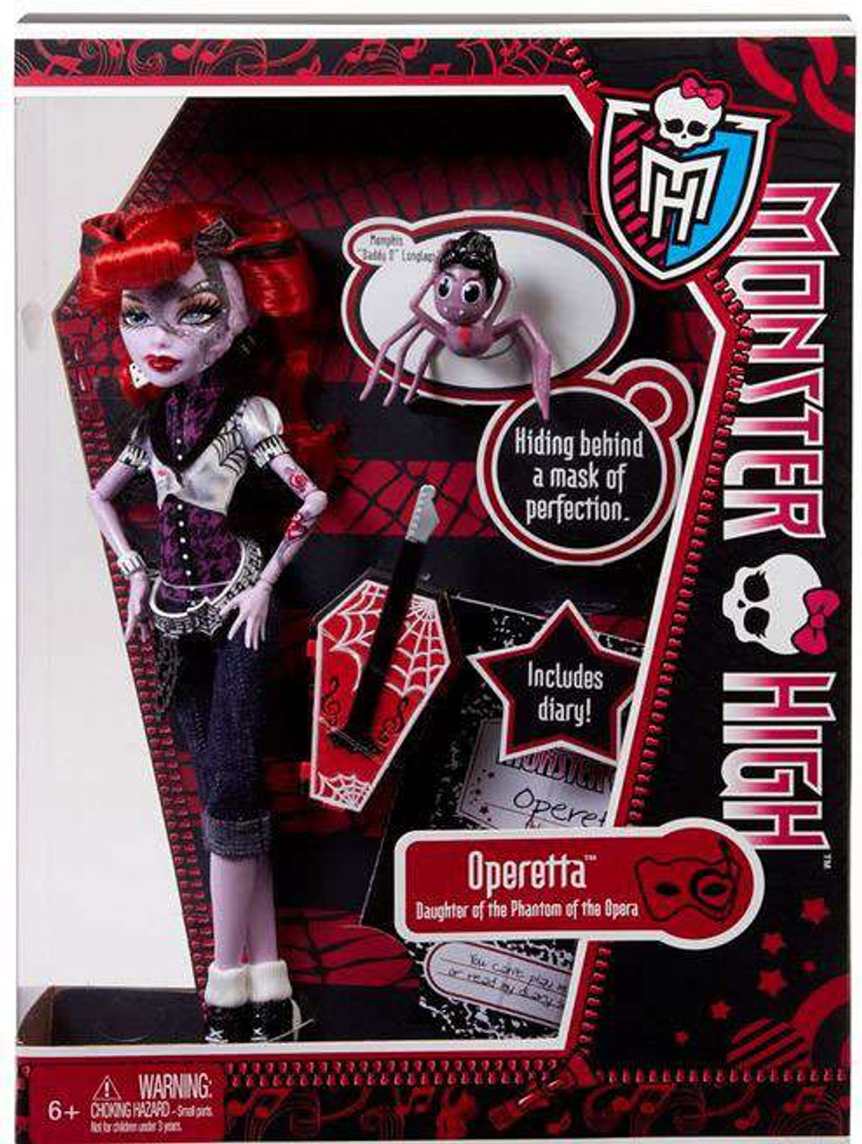 "Monster High Operetta 10.5-Inch Doll [Memphis ""Daddy O"" LongLegs]"