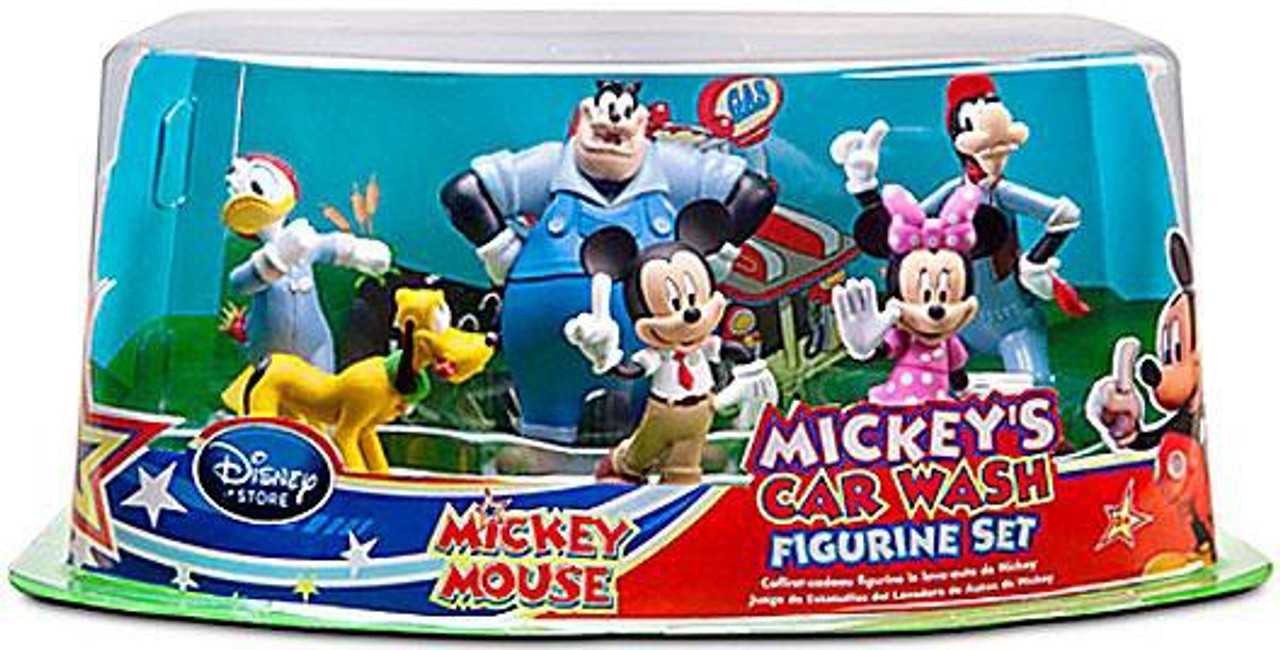 Disney Mickey Mouse Mickey's Car Wars Figurine Set Exclusive 3-Inch