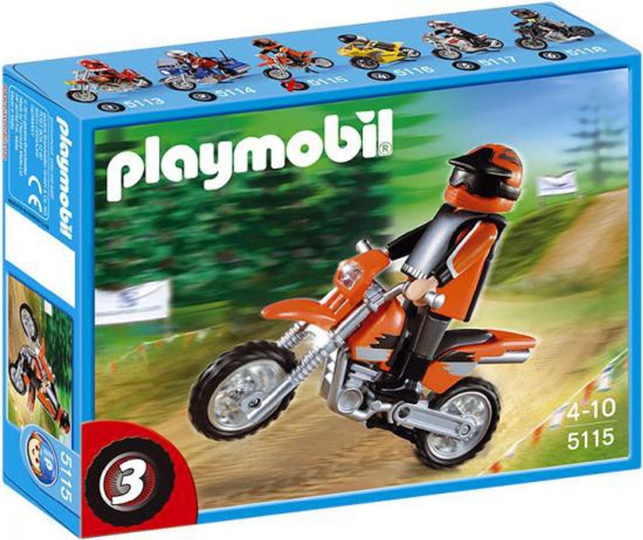 Playmobil Transport Enduro Motorcycle with Rider Set #5115