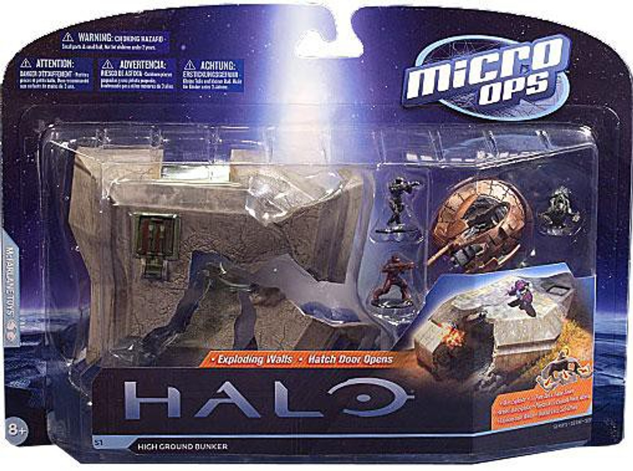 McFarlane Toys Halo Micro Ops Series 1 High Ground Bunker Large Mini Figure