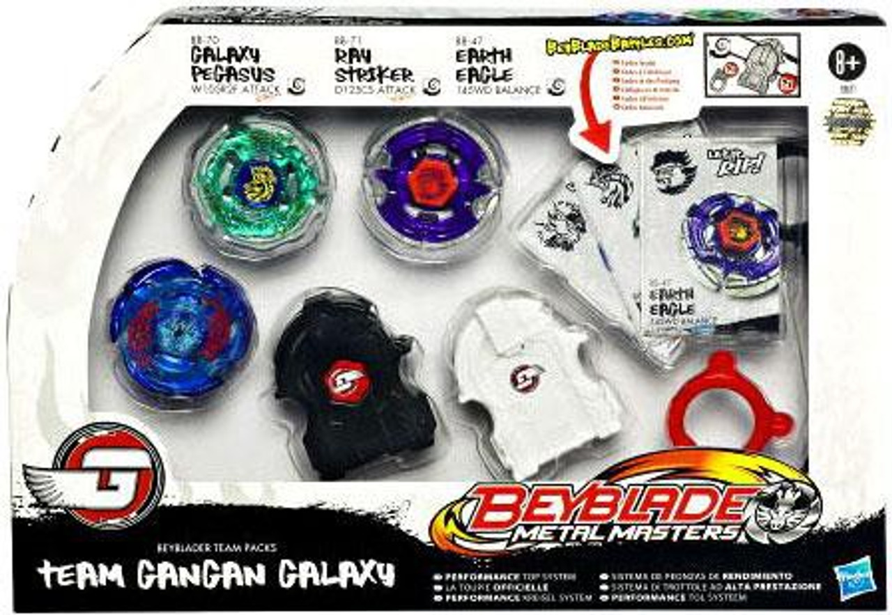 Beyblade Metal Masters Team Gangan Galaxy Top Set