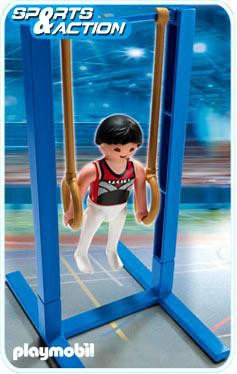 Playmobil High-Performance Athletes Gymnast on Rings Set #5189