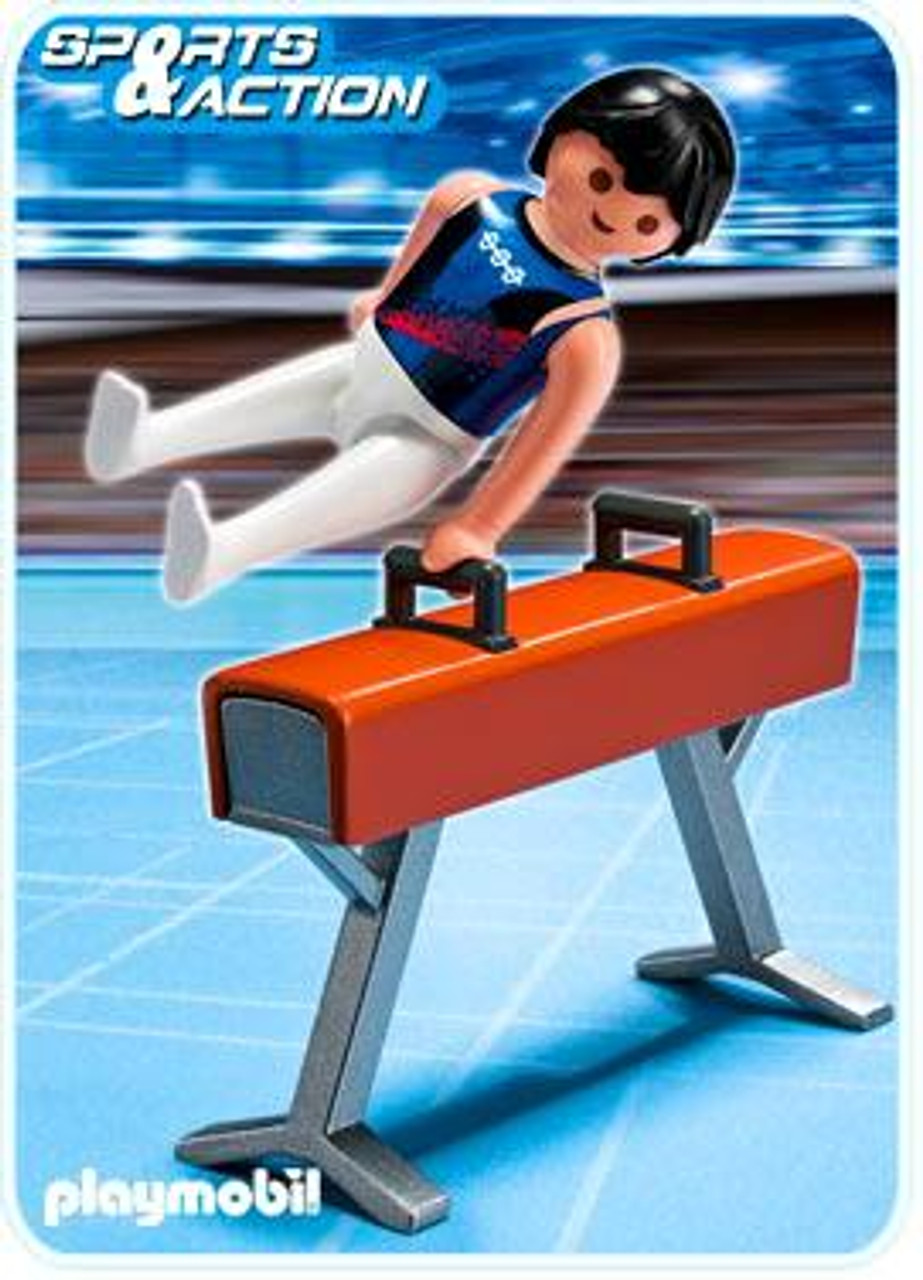 Playmobil High-Performance Athletes Gymnast on Pommel Horse Set #5192