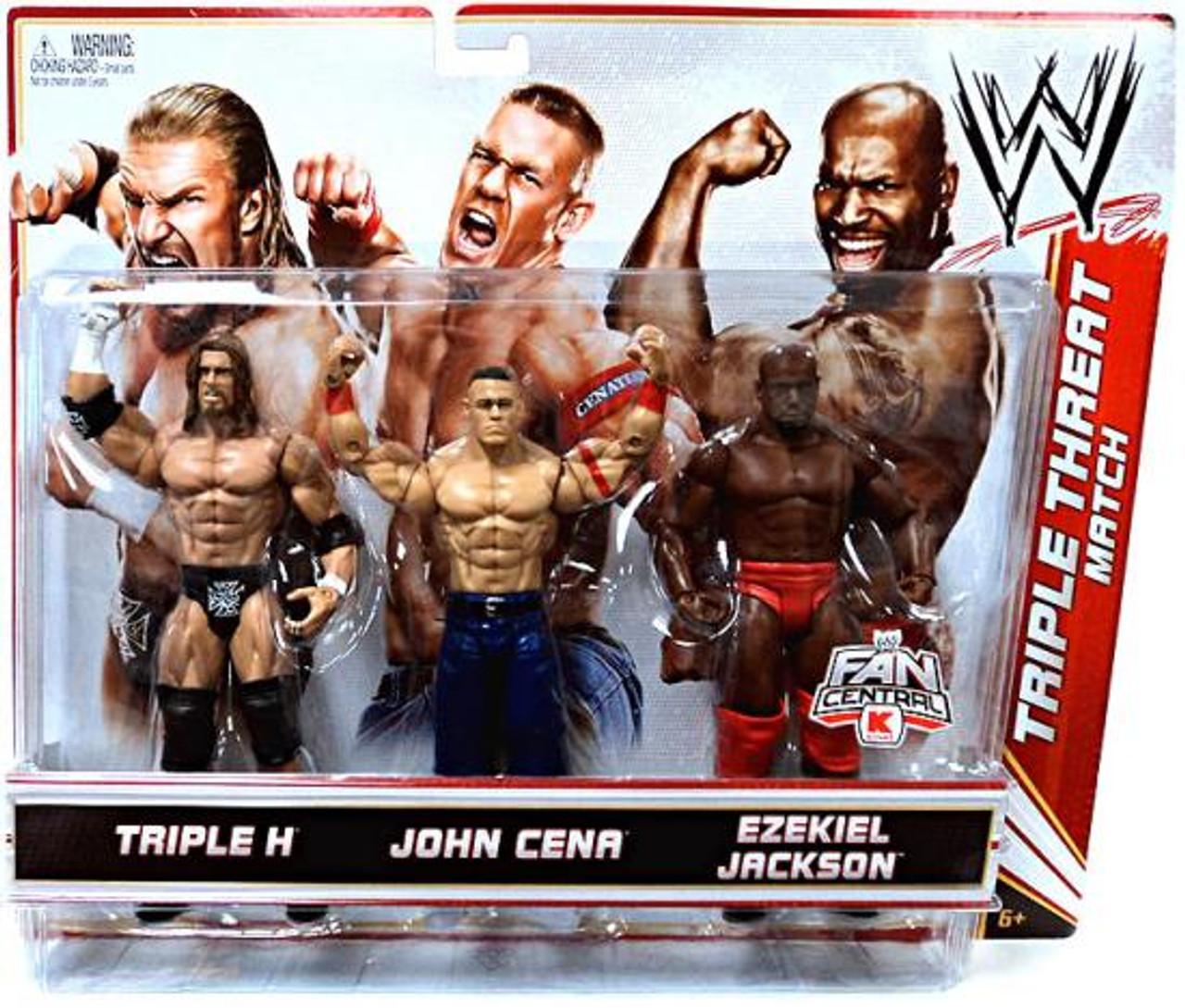 WWE Wrestling Triple H, John Cena & Ezekiel Jackson Exclusive Action Figure 3-Pack [Triple Threat Match]