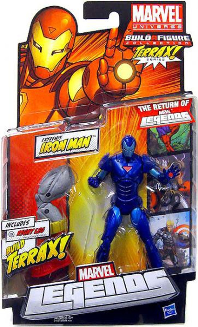 Marvel Legends 2012 Terrax Series Extremis Iron Man Action Figure [Stealth Blue Variant]