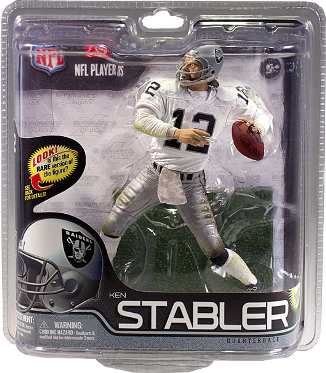 McFarlane Toys NFL Oakland Raiders Sports Picks Series 29 Ken Stabler Action Figure [White Jersey]