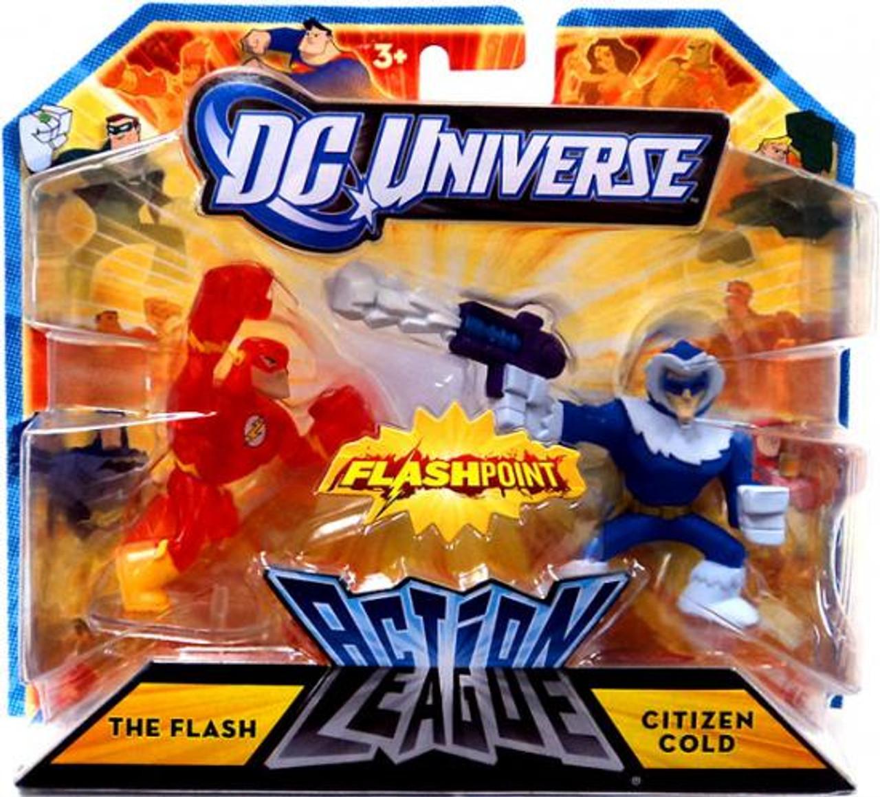 DC Universe Flashpoint Action League The Flash & Citizen Cold 3-Inch Mini Figures