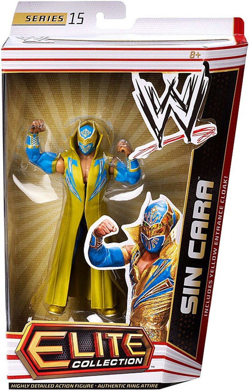 WWE Wrestling Elite Series 15 Sin Cara Action Figure [Yellow Entrance Cloak]