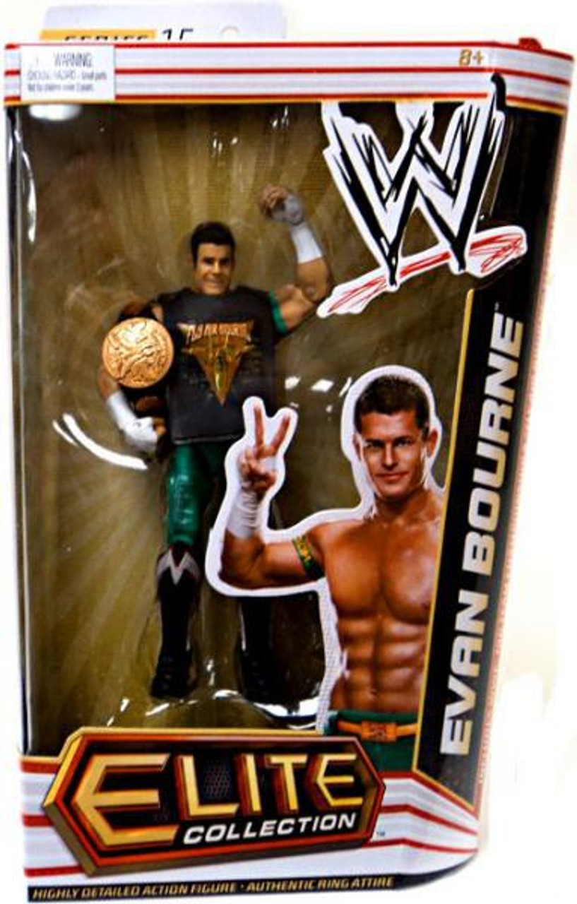 WWE Wrestling Elite Series 15 Evan Bourne Action Figure [Tag Team Championship Belt & Fly Air Bourne Sleeveless Shirt]