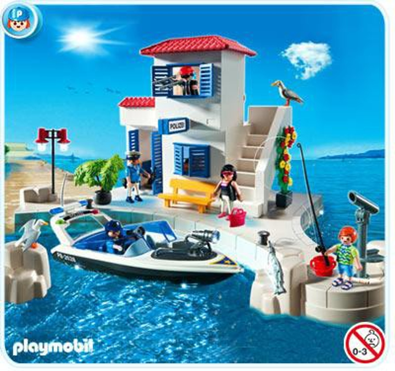 Playmobil Harbor Police Station with Speedboat Set #5128