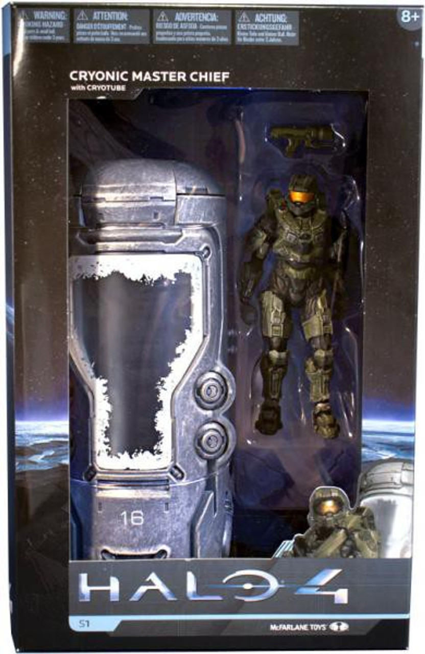 McFarlane Toys Halo 4 Series 1 Deluxe Cryonic Master Chief with Cryotube Action Figure