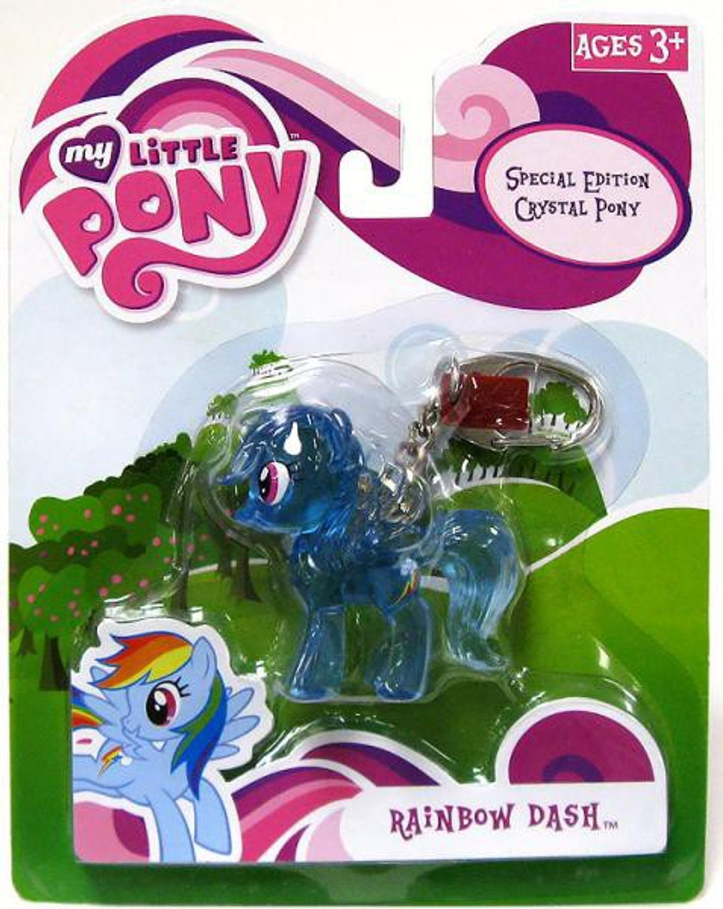 My Little Pony Friendship is Magic Special Edition Crystal Ponies Rainbow Dash Keychain