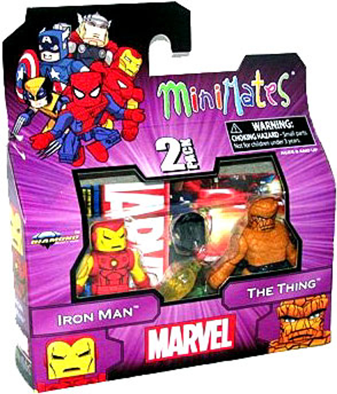 Marvel Minimates Best of Series 1 Iron Man & Thing Minifigure 2-Pack