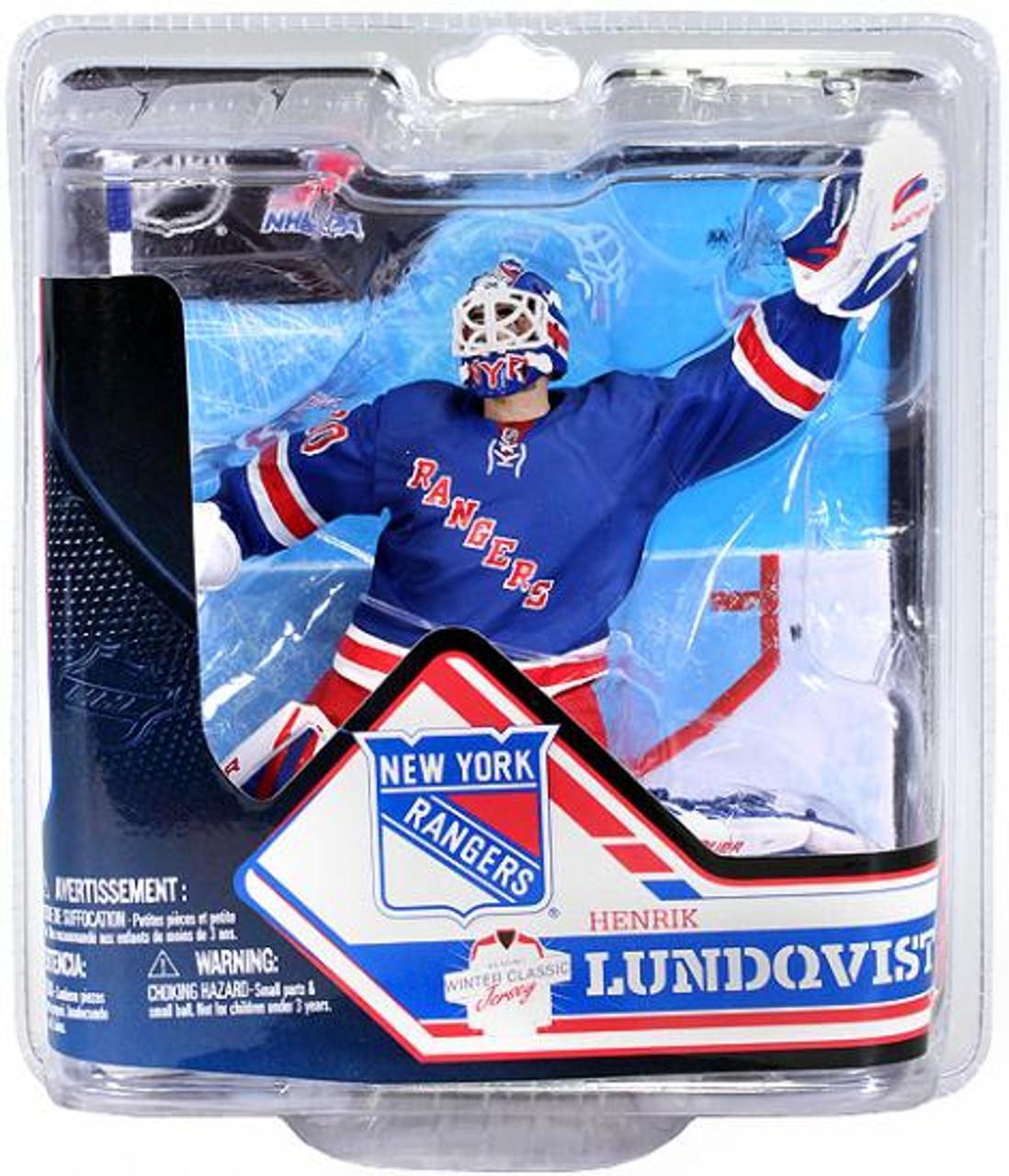 McFarlane Toys NHL New York Rangers Sports Picks Series 32 Henrik Lundqvist Action Figure [Blue Jersey]
