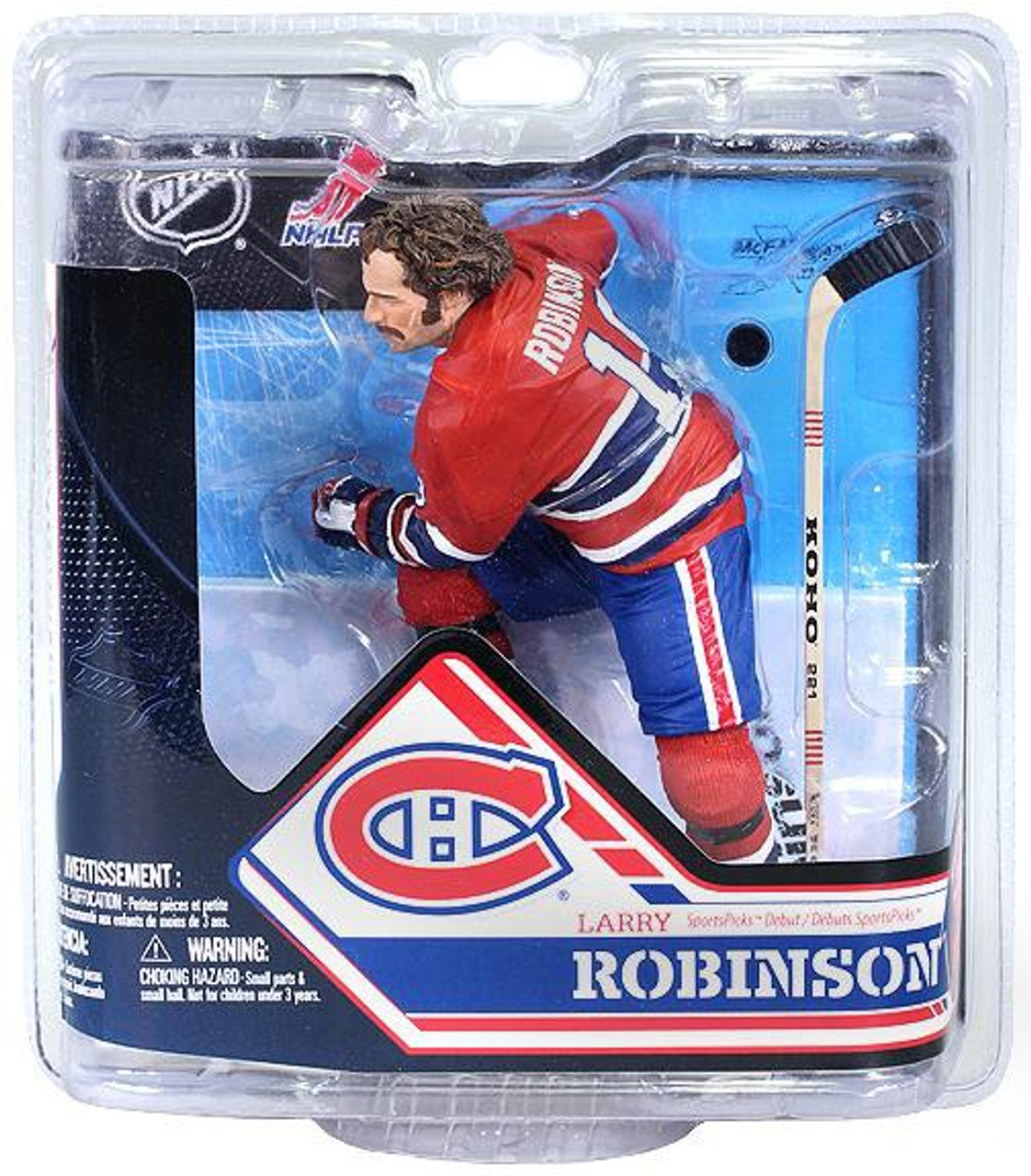 McFarlane Toys NHL Montreal Canadiens Sports Picks Series 32 Larry Robinson Action Figure [No Trophy]