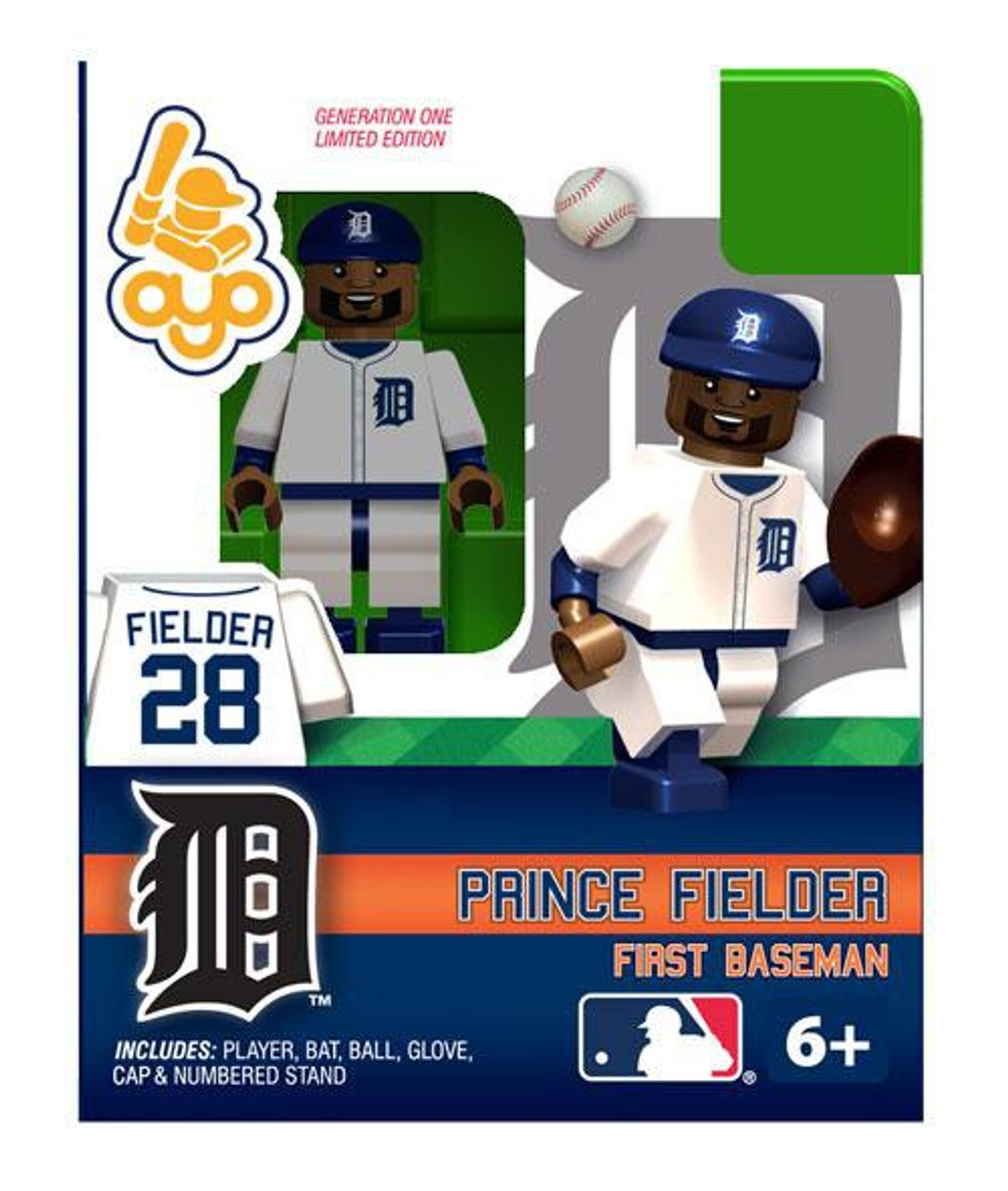 Detroit Tigers MLB Generation One Prince Fielder Minifigure