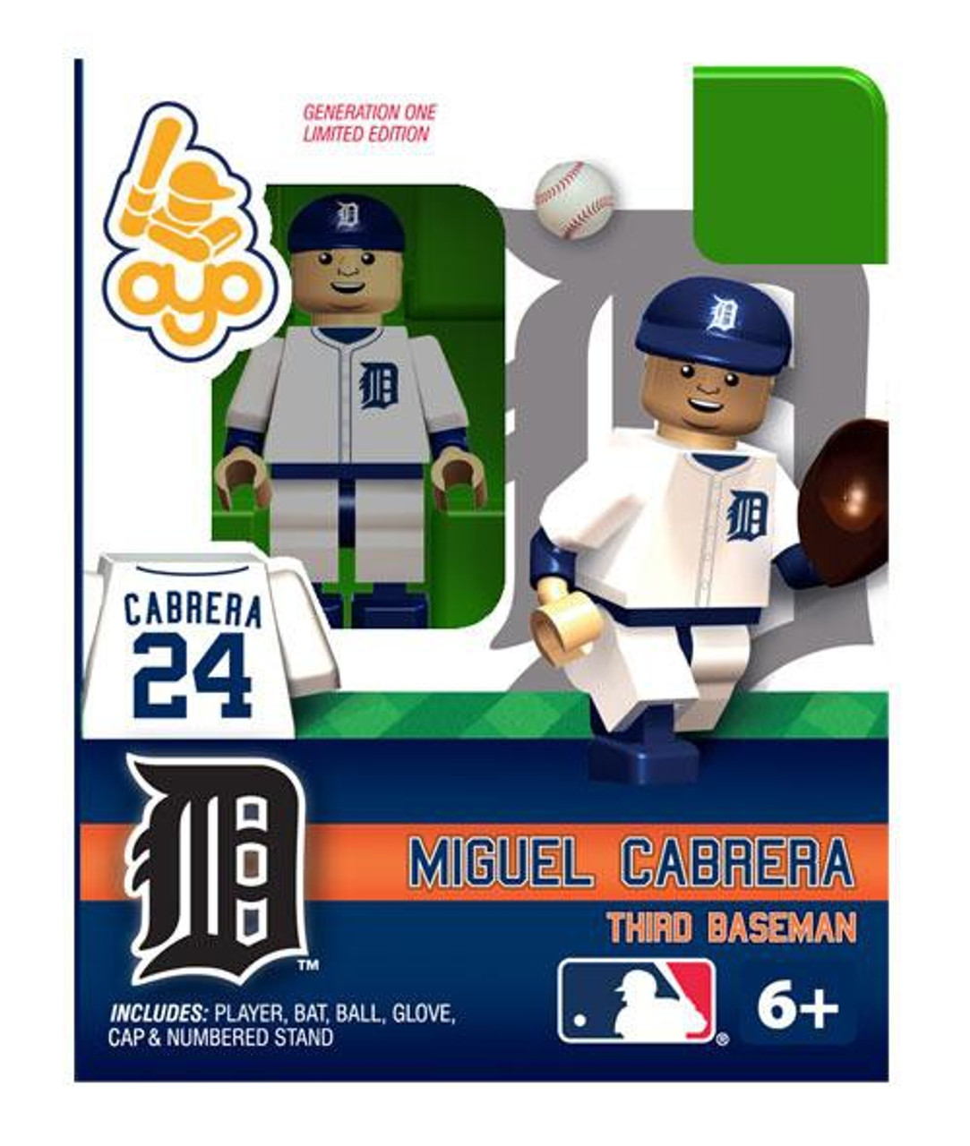 Detroit Tigers MLB Generation One Miguel Cabrera Minifigure