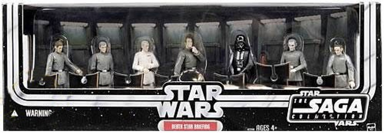 Star Wars A New Hope Saga Collection 2006 Death Star Briefing Exclusive Action Figure Set