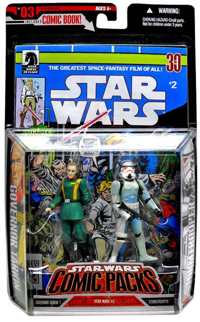 Star Wars A New Hope Comic Packs 2006 Grand Moff Tarkin & Stormtrooper Action Figure 2-Pack