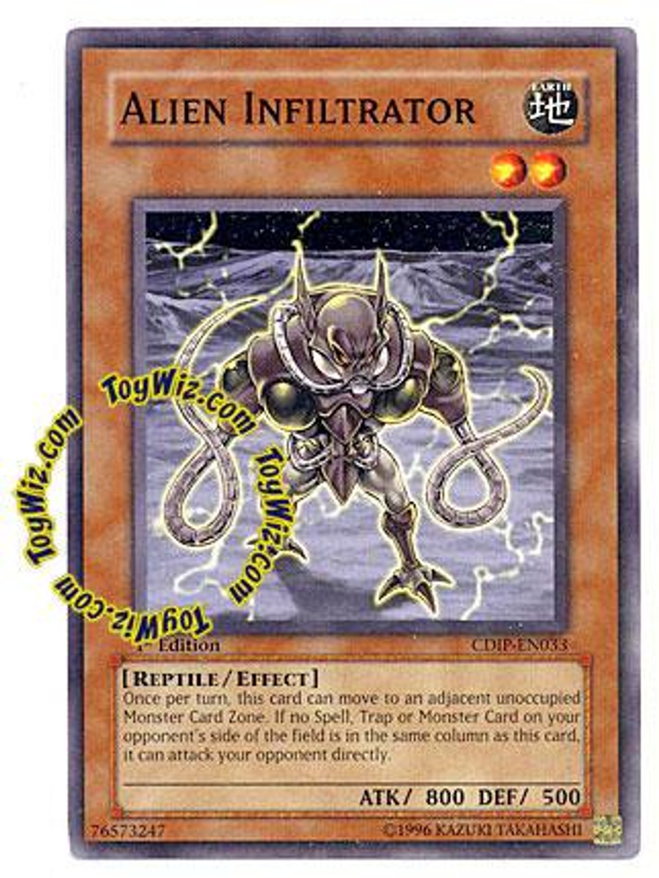 YuGiOh GX Cyberdark Impact Common Alien Infiltrator CDIP-EN033