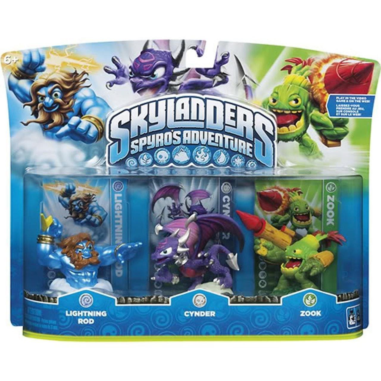 Skylanders Spyro's Adventure Lightning Rod, Zook & Cynder Figure 3-Pack