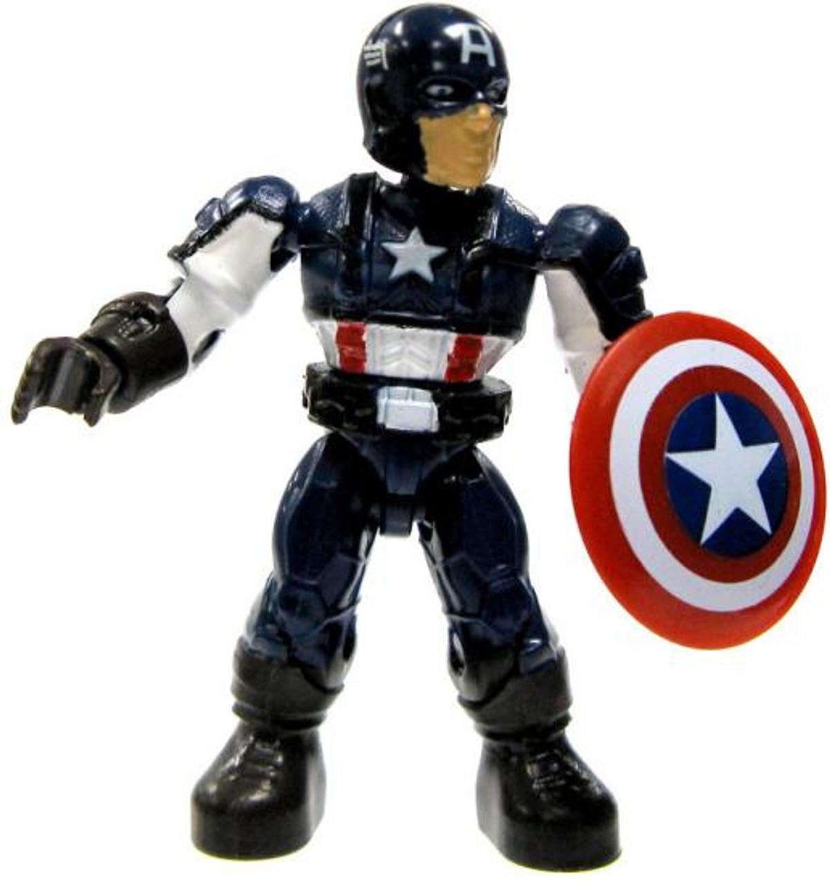 Mega Bloks Marvel Series 2 Captain America Common Minifigure [Loose]