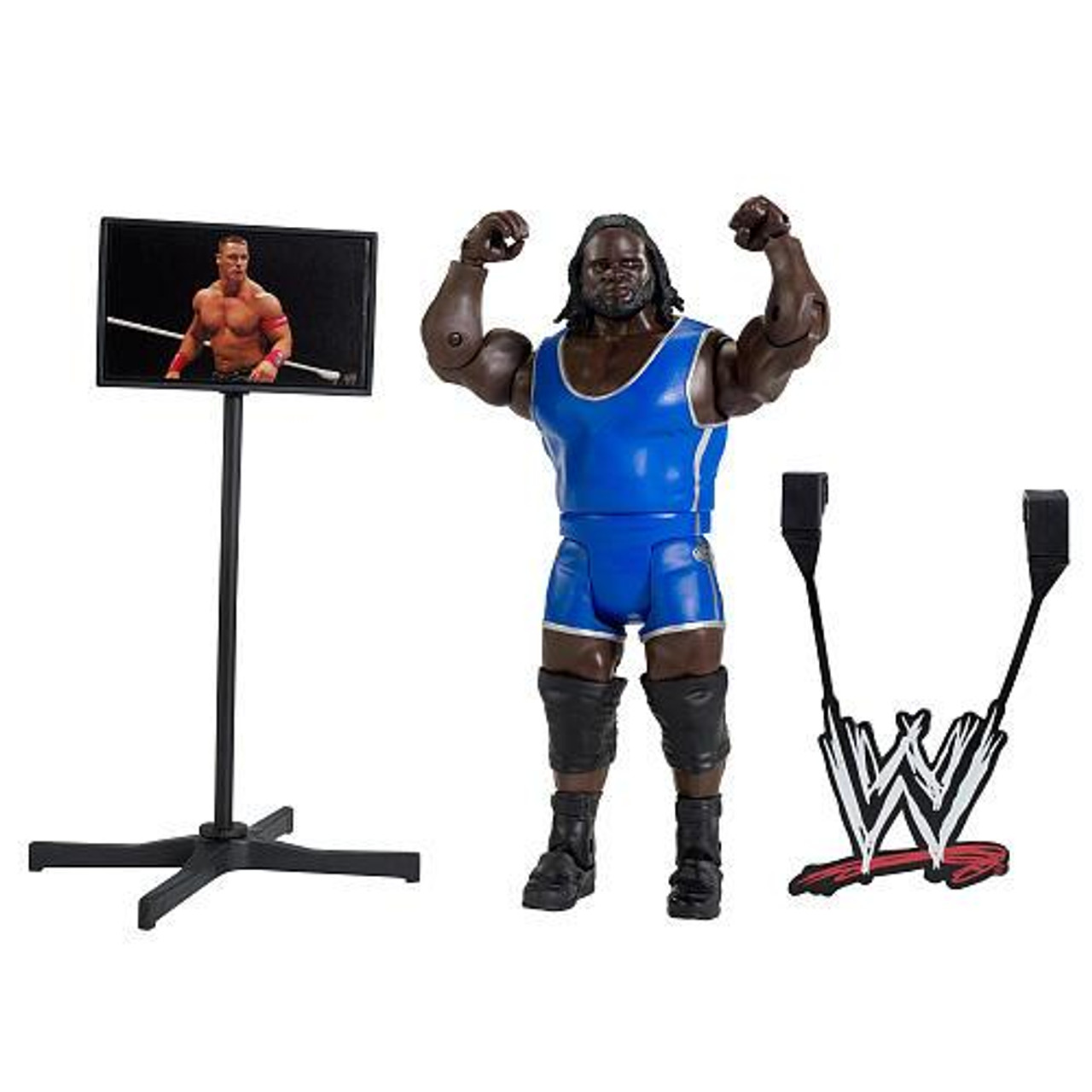 WWE Wrestling PPV Headquarters Mark Henry Exclusive Action Figure [Build a WWE Interview Set]