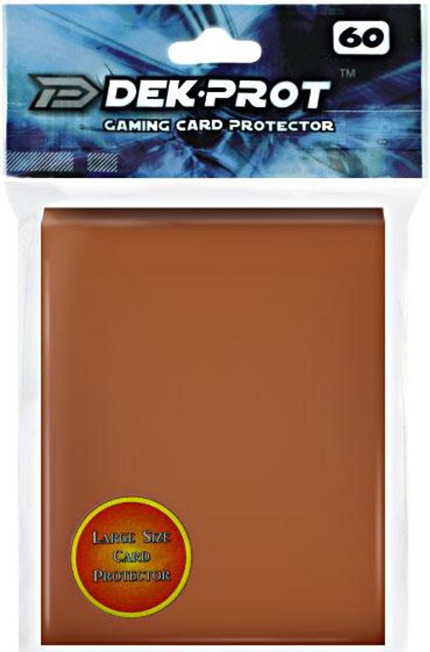 Card Supplies Gaming Card Protectors Mocha Brown Standard Card Sleeves [60 Count]