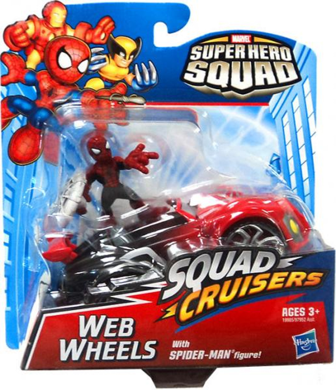 Marvel Superhero Squad Cruisers Web Wheels with Spider-Man Action Figure Vehicle