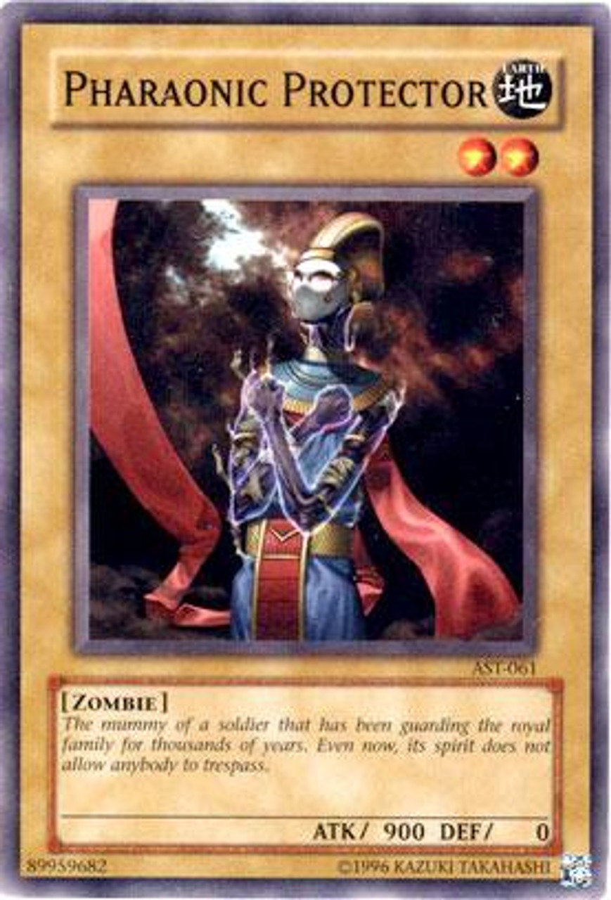 YuGiOh Ancient Sanctuary Common Pharaonic Protector AST-061