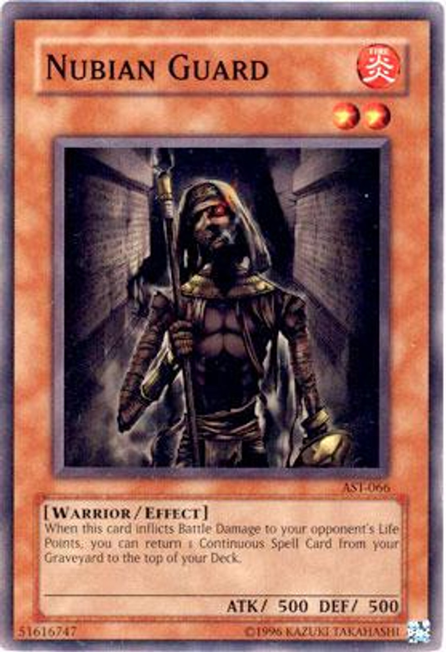 YuGiOh Ancient Sanctuary Common Nubian Guard AST-066