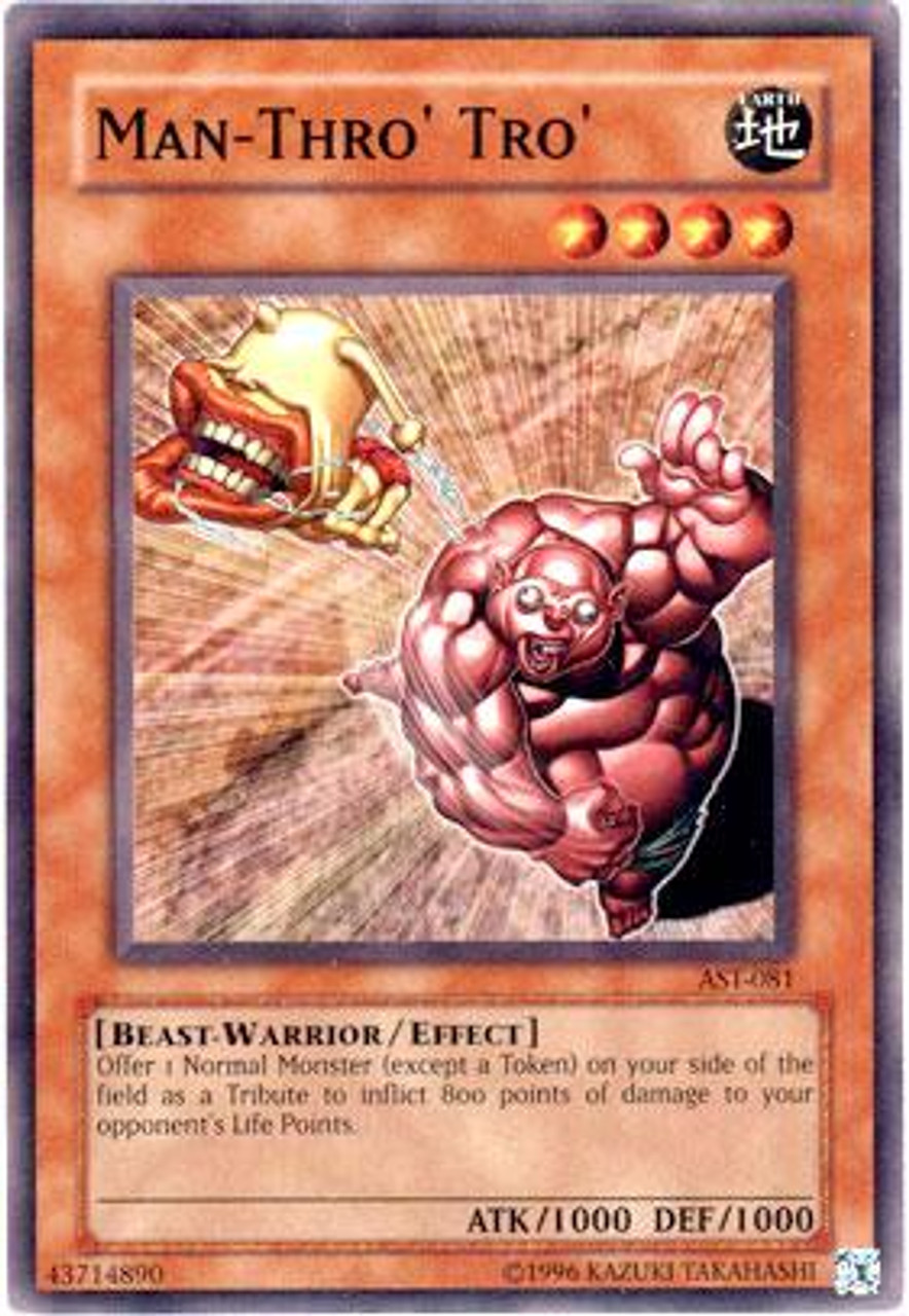 YuGiOh Ancient Sanctuary Common Man-Thro' Tro' AST-081
